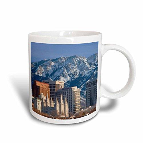 3dRose mug_147161_2 Wasatch Mountains, Salt Lake City Skyline, Utah USA Us45 Bjn0000 Brian Jannsen Ceramic Mug, - Salt City Outlets Utah Lake