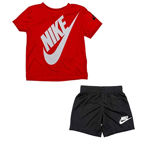 Nike Boys Futura T-Shirt/Shorts 2 Piece Set University Red/Black 86F024-R1N