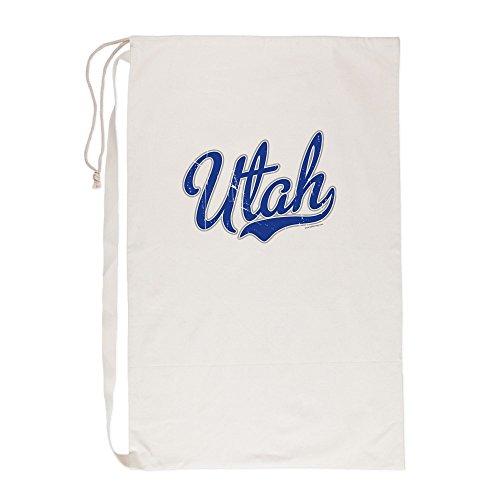 CafePress Utah State Script Font Vintage - Laundry Bag, 23