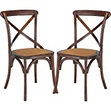 Poly and Bark Cafton Crossback Chair in Walnut (Set of 2) For Sale
