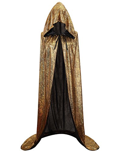 (Hamour Unisex Halloween Cape Full Length Hooded Cloak Adult Costume, 59