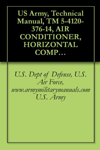 US Army, Technical Manual, TM 5-4120-376-14, AIR CONDITIONER, HORIZONTAL COMPACT; 36,000 BTU/HR COOLING; 31,000 BTU/HR HEATING, 208 VOLT 3 PHASE, 50/60 ... (NSN 4120-01-122-0628), military manuals PDF