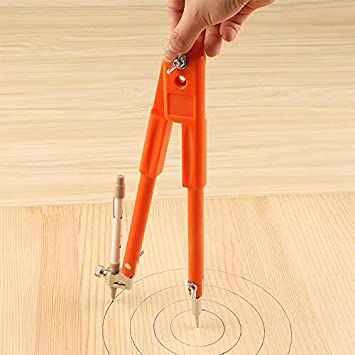 SNOWINSPRING Small Size Carpenter Precision Pencil Compasses Large Diameter Adjustable Dividers Marking and Scribing for Woodworking