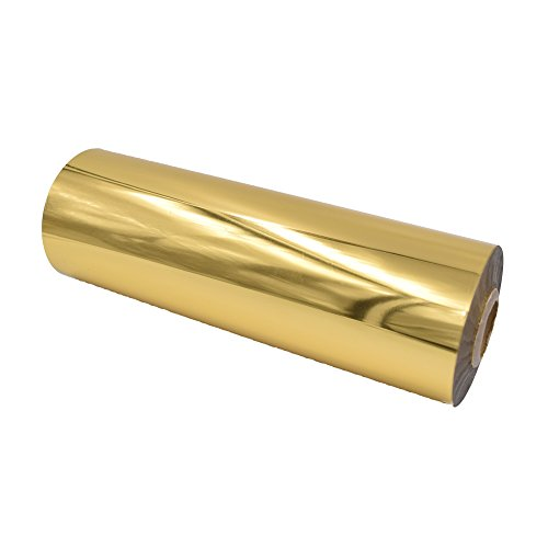 GOLD Metallic Laminating Foil - Heat Transfer for Paper 8.4'' x 4724'' Roll - DIY Foil Lamination Golden Metal for Art Crafts Gifts Wedding - Laminator Friendly by LoveAtEverySight