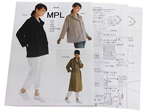 型紙・パターン MPL ワイドカラー Aラインジャケット M164の商品画像