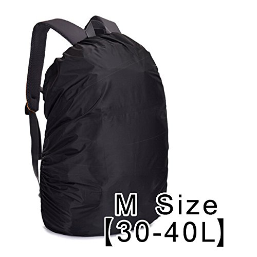 AYAMAYA Waterproof Backpack Rain Cover (30L-40L), Lightweight Bag Rain Cover Elastic Adjustable Rucksack Raincover Rainproof Dustproof Daypack Cover Ideal for Cycling Hiking Camping