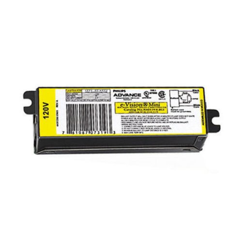 Advance e-Vision RMH39KLFSM - 39 Watt - Pulse Start - Metal Halide Ballast - 120 Volt - ANSI M130 or C179 - Power Factor 90% - Max. Temp. Rating 194 Deg. F - Same Side Lead Exits