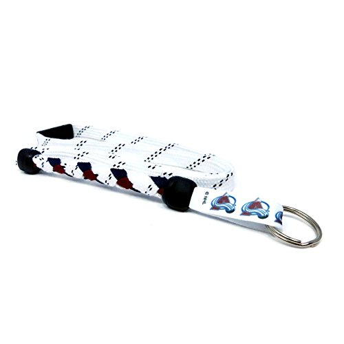 Swannys Colorado Avalanche Hockey Skate Lace Lanyard by