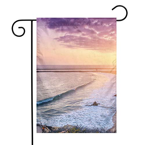- OLGCZM Newport Beach Home Flag,Weather Fade Resistant Garden Welcome Flags for Party Yard Outdoor Decor,12x18 Inches