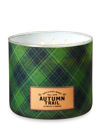 Bath and Body Works 3-Wick Scented Candle Autumn Trail 14.5 Ounce