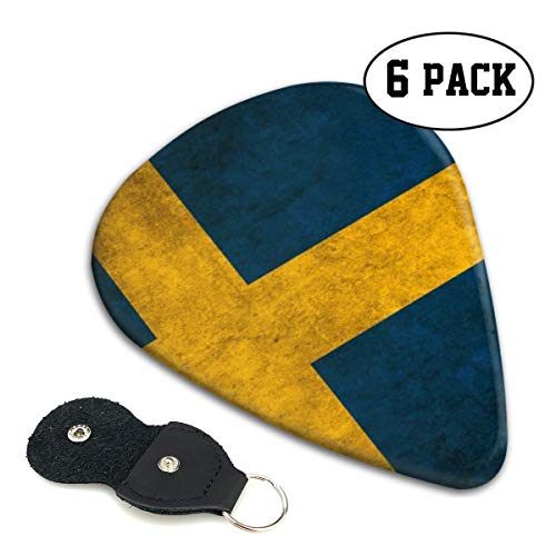 [해외]Xzyauza Swedish Flag 6 Pack Celluloid Guitar Picks Mandolinand Bass 0.46mm 0.71mm 0.96mm Optional / Xzyauza Swedish Flag 6 Pack Celluloid Guitar Picks Mandolin,and Bass 0.46mm, 0.71mm, 0.96mm Optional