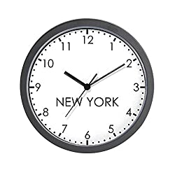 CafePress New York Modern Newsroom Unique Decorative 10 Wall Clock