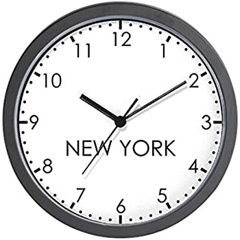 Amazon Com Signmission New York Wall World Time Zone