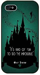 Walt Disney Quotes - It's kind of fun to do the impossible - Castle - For Case Samsung Galaxy S5 Cover black plastic case / Inspiration