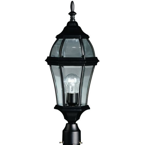 Kichler Lighting 1 Light Incandescent Outdoor Post Lantern in Black Finish- 9992BK by KICHLER