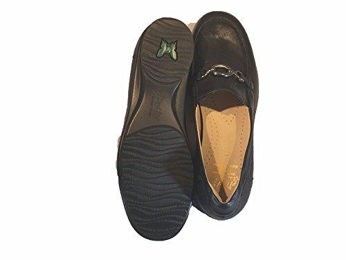 Fidelio Kvinners Hallux Magiske Strekningen Loafers Flate, Størrelse 7,5, Farge Sort
