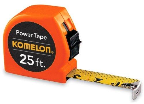 Komelon 3725 25' x 1'' Power Tape Measure - Orange
