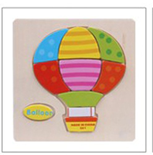 1 PCS Wooden Puzzles Learning Educational Toys for Children Boys and Girls Ages 3+ in Baloon