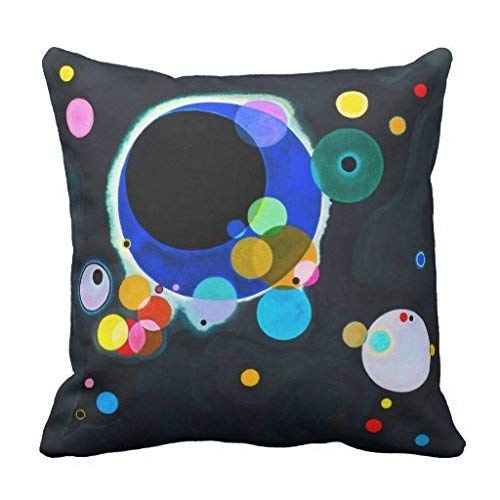 Kandinsky Several Circles Pillow Cover 18x18 (Several Circles Kandinsky)