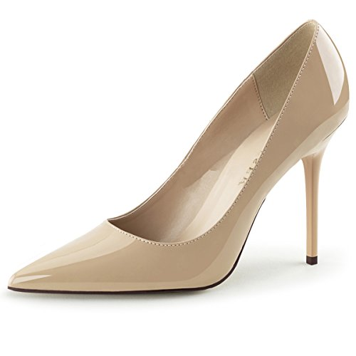 Womens Pointed Toe Shoes High Heel Pumps Classic Stilettos 4 Inch Heels Size: 12 Colors: Nude