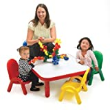 Angeles Toddler Table & Chair Set CANDY APPLE RED For Sale