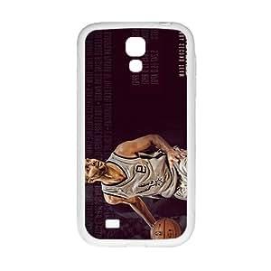 QQQO SAN ANTONIO SPURS Basketball NBA White Phone Case for Samsung Galaxy S4