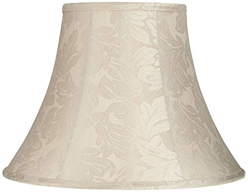 Potsdam Cream Fabric Bell Lamp Shade 8x16x12 (Spider) - Springcrest