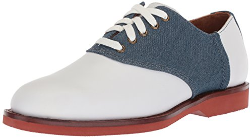 Polo Ralph Lauren Men's Orval Oxford, White/Denim, 13 D US