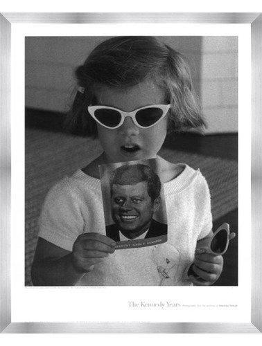 Carolineサングラス、1961 by Stanley Tretick – 18 x 24インチ – アートプリントポスター 18 x 24 Inch LE_246375-F9935-18x24 B01NAW1UZ1  Stainless Steel Wood Frame