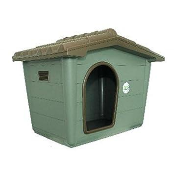 Caseta para perros gatos Eco Sprint Large de plástico Casa de exterior Riparo Jardín 99 x 70 x 75h cm: Amazon.es: Jardín