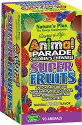 Nature's Plus Animal Parade Children's Chewable Super Fruits Berry -- 90 Chewable Tablets