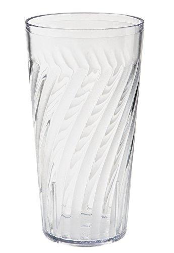 20 oz. Clear Tahiti Tumblers by, SAN Plastic GET 2221-1-CL-EC (Pack of - Tumbler Tahiti Beverage