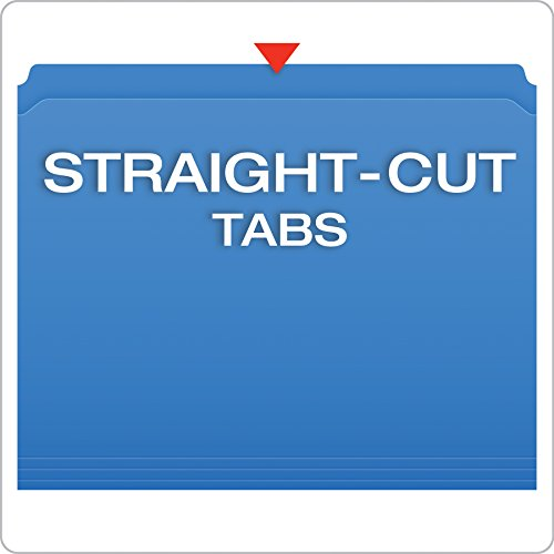Pendaflex Color Reinforced Top File Folders, Letter Size, Full Tab Position, Blue, 100 Per Box (R152 BLU) Photo #3