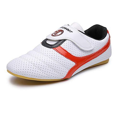 Unisex Sport Boxing Karate Shoes Arts Taekwondo Sneakers Kung Fu Tai Chi Shoes for Adult,11 M US White (Karate Shoes Boys)