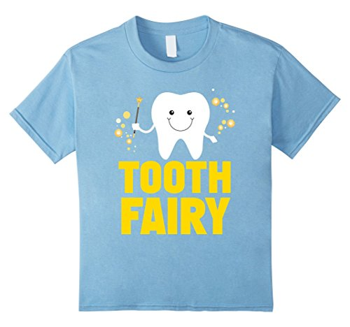Tooth Fairy Costume Kids (Kids Kids Tooth Fairy Godmother Fairy Tales Novelty T-Shirt 10 Baby Blue)