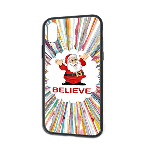 Shock-Absorption Christmas Santa Clause Believe Soft Silicone TPU Phone Case for iPhone X iPhone Xs