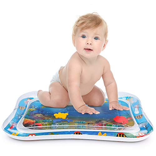 YIZI Tummy time Water Play mat Baby & Toddlers is The Perfect Fun time Play Inflatable Water mat,Activity Center Your Babys Stimulation Growth