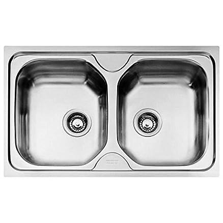 FRANKE Lavello Onda cm 79x50 2 vasche acciaio inox per cucina da ...
