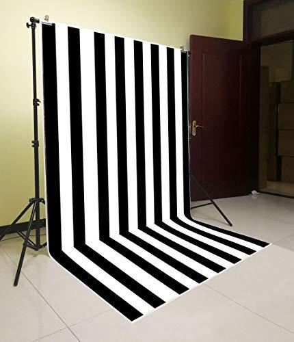 Daniu Photo Backdrops Studio Props Black and White Stripes Vinyl Wallpaper Photography Background DN013-5x7FT 150cm x 210cm