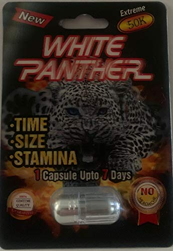 White Panther Extreme 15K 3D - 20 Pills Male Enhancement Pill - Fast US Shipping (Panther Pill)