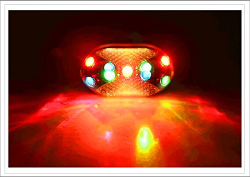 Surborder Shop Bike Bicycle 9 LED Multicolor Cycling Tail Rear Red Light Lamp Taillight/Clamp