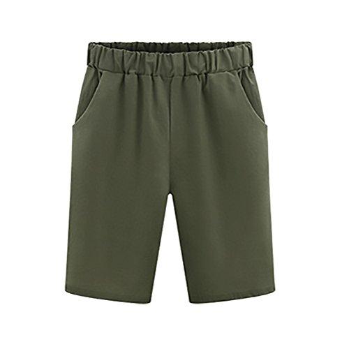 Sciolto Size Puro Huixin Donna Plus Verde Colore Pantaloncini Basic Casual Bermuda Estivi Forti Comode Shorts Moda Taglie ZzZArX
