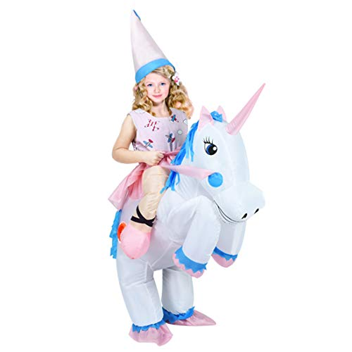 ANOTHERME Unicorn Rider Inflatable Costume for Adults Or Child Holiday Blow Up Fancy Dress -