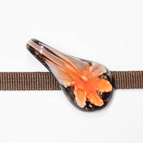 最小扱うはい和道楽着物屋 【ベネチアンガラス】帯留め 帯留め 普段着 お洒落 小紋 ガラス 黒 番号d310-20 レディース 着物 和装