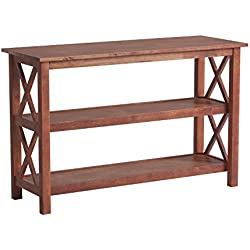Coaster Briarcliff Casual Sofa Table with 2 Shelves, Medium Brown