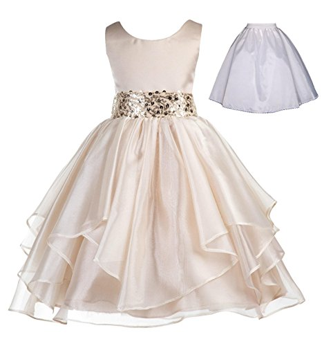 e7d7c00c6d9 ekidsbridal Floral Lace Heart Cutout White Flower Girl Dresses First  Communion Dress Baptism Dresses 172T.  34.99. ekidsbridal Wedding Ruffles  Organza ...