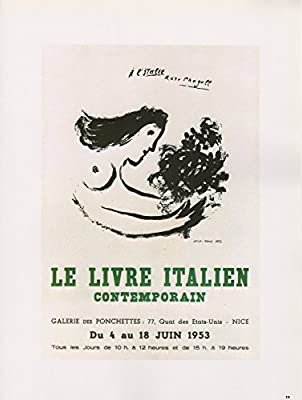 Amazon Com 1989 Vintage Chagall Livre Italien Contemporain