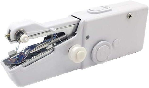 Hqm Mini Manual Máquina de Coser portátil, de Mano Principiante múltiples Funciones Máquina de Coser eléctrica, Utilizada para Tela de la Ropa de la Familia Uso de Viaje