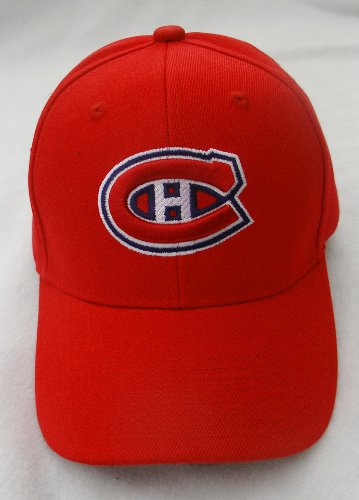 PLAYOFF SPECIAL --- MONTREAL CANADIENS Classic Style Adjustable RED Baseball Hat Cap