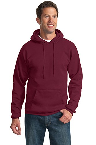 Hooded Cotton Pullover Ultimate (Port & Company Tall Ultimate Pullover Hooded Sweatshirt PC90HT -Cardinal 3XLT)